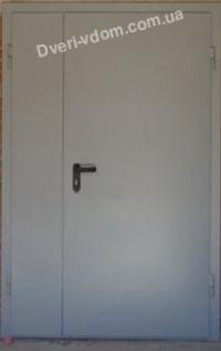 Противопожарные EI 30 полуторные двери  RAL7035