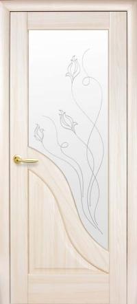 Міжкімнатні двері Амата зі склом