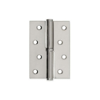 Петля дверная Кедр 100x75 мм левая 2 шт Сатин