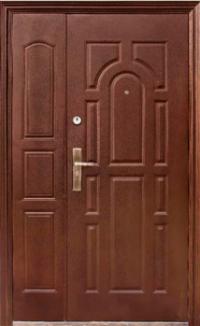 Двери полуторные молотковое покрытие