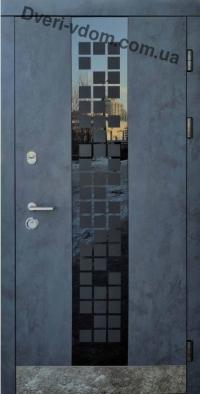«Cити Glass антрацит» Престиж уличные двери