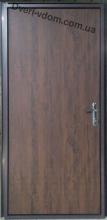 Техническая дверь-оцинковка (Дуб темный)