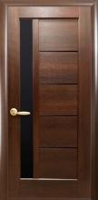 Межкомнатная дверь Грета BLK (черное стекло)