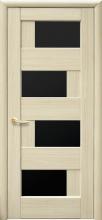Межкомнатная дверь Сиена (черное стекло)