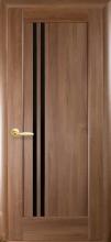 Межкомнатная дверь Делла BLK (черное стекло)
