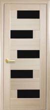 Межкомнатная дверь Пиана BLK (черное стекло)