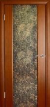Міжкімнатні двері Глазго декор Коричньові букви. шп. макоре