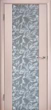 Міжкімнатні двері Глазго декор Сіре листя