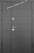 Полуторные двери «Горизонталь» Премиум улица