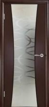 Міжкімнатні двері Кальдера Паула, серпантин, шп.венге