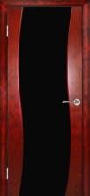 Міжкімнатні двері Кальдера ст. чорний триплекс, шп. червона фантазія