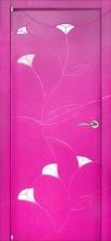 Двері міжкімнатні Колор - Клео (Розові)