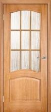 Двери  Капри, дуб светлый со стеклом