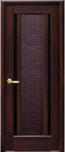 Межкомнатная дверь Луиза (черное стекло)