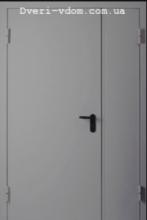 Полуторные двери металл-металл RАL 7035 (серые)
