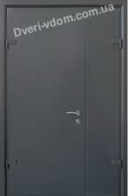 """""""Спарта-2"""" Полуторные двери Графит Рал-7024."""