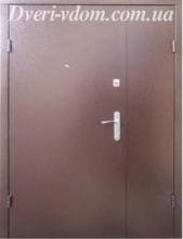 Полуторные двери «Технические- молотковые»