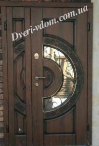"""Полуторные двери """"Оптима157+Стеклопакет"""""""