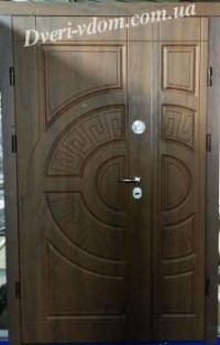 Полуторные двери Форт Греция Премиум (улица).