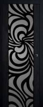 Двери Милано № 2, Блек-Вайт