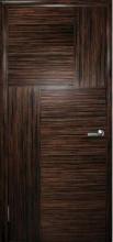 Двери Маркетри-2, эбен крупноструктурный