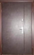 Полуторные двери эконом класса (кожзам)
