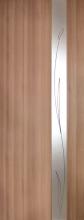 Двери Омис. Зеркало 3 ПВХ КР