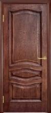 Двери Леона, патина орех, глухие