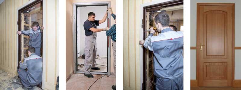 установка входной двери в современном панельном доме